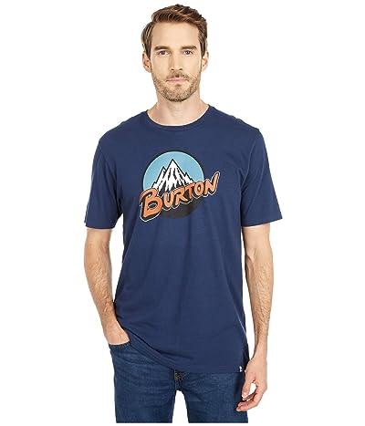 Burton Retro Mountain Short Sleeve T-Shirt (Dress Blue) Clothing