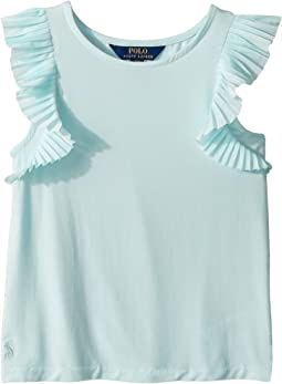 Polo Ralph Lauren Kids - Flutter-Sleeve Jersey Top (Little Kids/Big Kids)