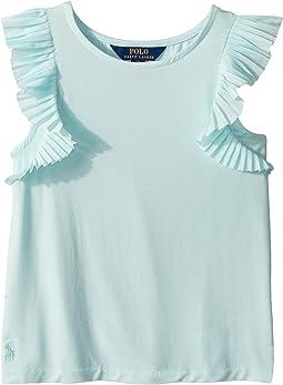 Flutter-Sleeve Jersey Top (Little Kids/Big Kids)