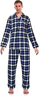 Casual Trends Classical Sleepwear Men's 100% Cotton Flannel Pajama Set,
