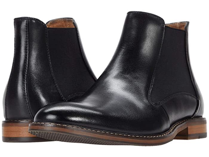 1950s Mens Shoes: Saddle Shoes, Boots, Greaser, Rockabilly Stacy Adams Fabian Chelsea Boot Black Mens Shoes $124.95 AT vintagedancer.com