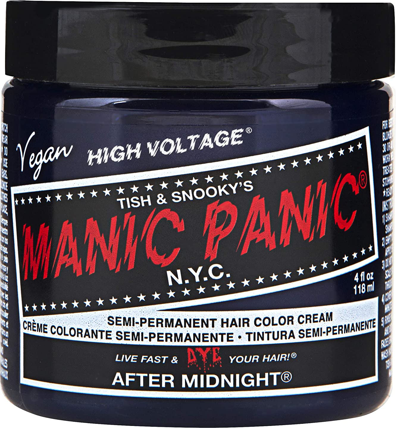 アプライアンスアーティスト下着MANIC PANIC Cream Formula Semi-Permanent Hair Color - After Midnight Blue