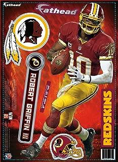 NFL Washington Redskins Robert Griffin III Fathead Teammate Wall Decal, 8 x 18-inches