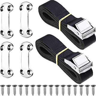 Tatuo 22 Pieces Universal Cooler Tie-Down Kit Cam Buckle Lashing Strap Compatible with Igloo Coleman Coolers, Keep Cooler in Place and Prevent from Slipping