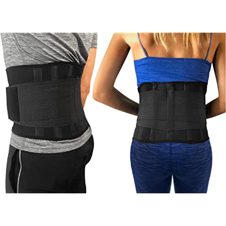 Sciatica Lower Back Pain Relief Herniated Disc Back Brace Scoliosis for Lower Back Pain Women Lumbar Support Belt Automatic Heating Black L 33-37 Inches