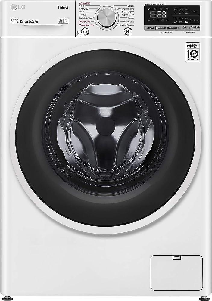 Lg  lavatrice slim a carica frontale 6,5 kg,  1200 giri, classe a+++,intelligenza artificiale F2WT4S6AIDD