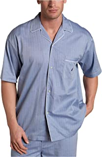 Nautica Men's Short Sleeve Cotton Button Down Woven Pajama Top