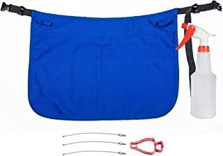 Professional Speed Cleaning Apron with 7 Pockets, Glove Holder, Duster Holder, 16oz Spray Bottle - Speeds Up Cleaning, Saves Time