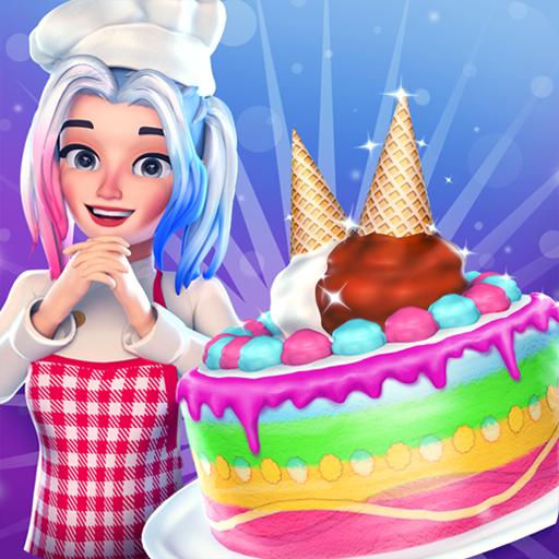 Unicorn Ice Cream Cake Shop - Bake Sweet Cake & Candy Maker G
