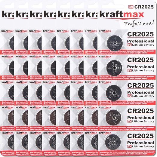 Kraftmax 40er Pack Cr2025 Lithium Hochleistungs Elektronik