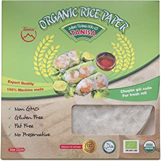 Tanisa Spring Roll Rice Paper Wrapper for Deep Fried (22cm, Round, 12 oz) - Cha gio