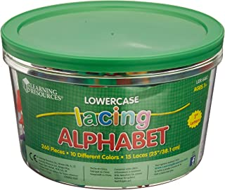Learning Resources LER6402 Lowercase Lacing Letters