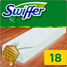 Swiffer Myjka do podłogi (18 chusteczek) do drewna i parkietu, wycieraczki idealne do kurzu, sierści zwierząt i alergenów