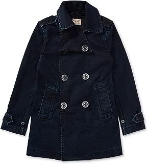 Polo Girls Double Breasted Pea Coat Nautical Denim Jacket