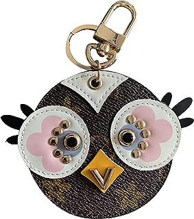 Popular zip closure round coin purse adorable animals bird owl Monogram bag charms keychain