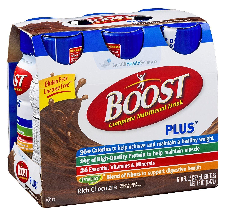 Boost Plus Chocolate Sensation Nutritional Energy Drink, 24 8 Ounce Bottles