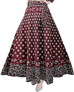 Rajvila Rajasthani Jaipuri Print Skirt for Women Comfortable Skirt for Women (F_W40NT_0009)