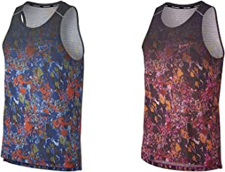 Official Brand Nike Rise Print Vest Mens Tops Tank Burgundy Small