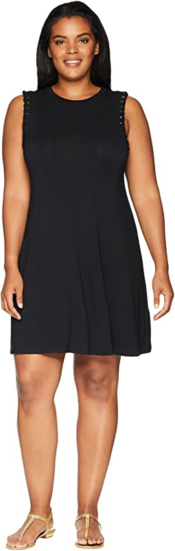 Plus Size Scarlette Sleeveless Mock Neck Dress