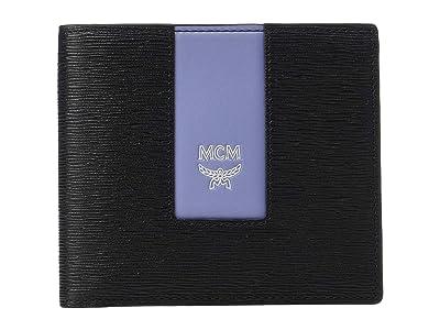MCM Coburg Emblem Flap Wallet/Two-Fold Small (Black) Wallet Handbags