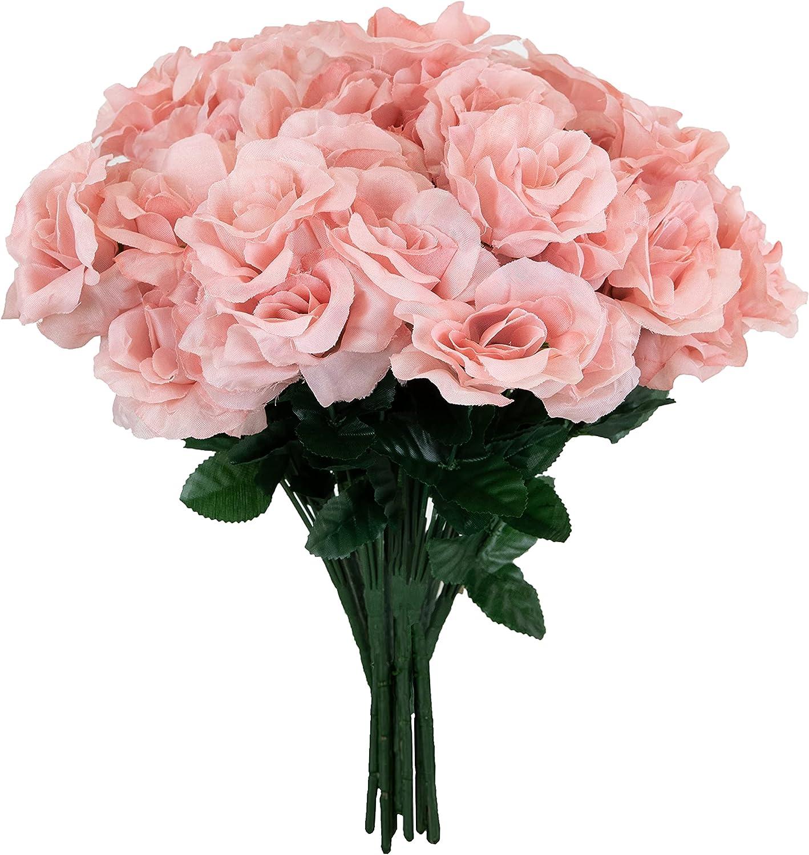 Season's Need Decor 84 Heads Bush Open Wholesale Artificia trust Roses Silk