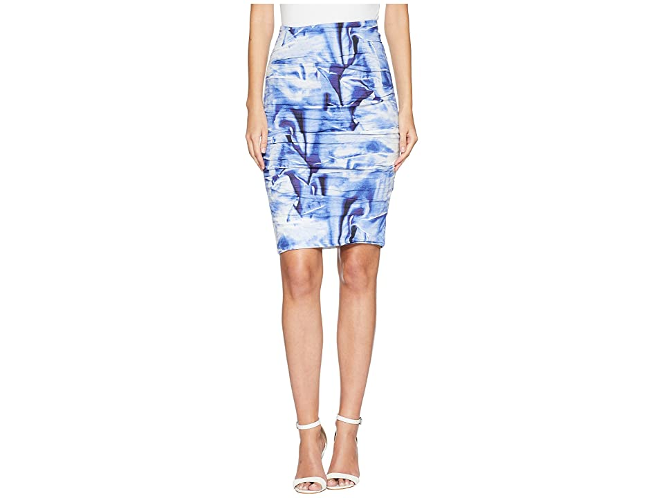 Nicole Miller Sandy Skirt (Blue Multi) Women's Skirt