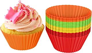 Silicone Baking Cups/Cupcake Liners, Silicone Reusable Nonstick Muffin Molds, Microwave and Dishwasher Safe Bakeware, Set ...