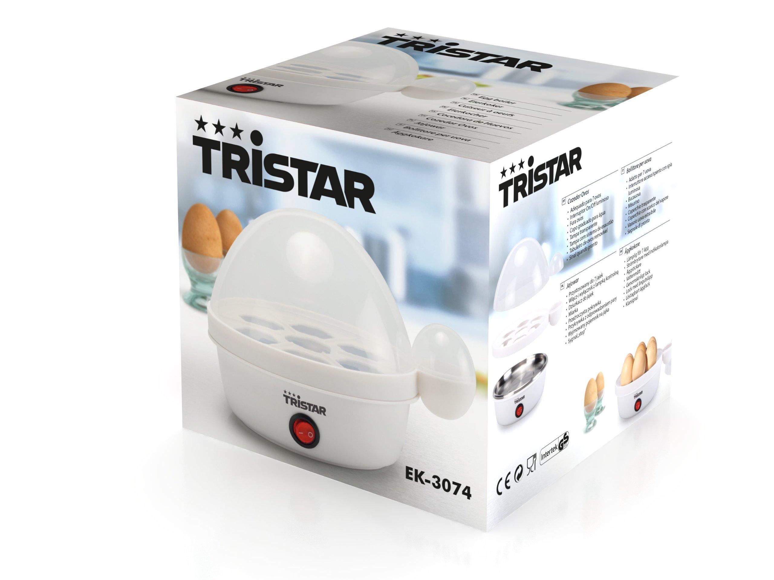 Tristar EK-3074 – Cocedor de huevos, para 7 huevos, color blanco ...