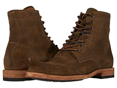 Frye Tyler Lace Up (Olive Oiled Suede) Men