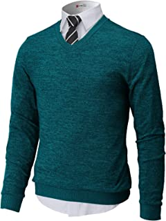 Sponsored Ad - H2H Mens Casual Slim Fit Pullover Sweaters Knitted Tops Lightweight Longsleeve Basic Designed