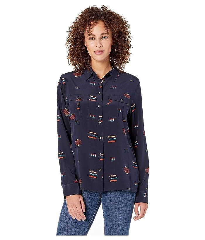Chief Joseph Silk Shirt (Mood Indigo Multi) Women's Clothing