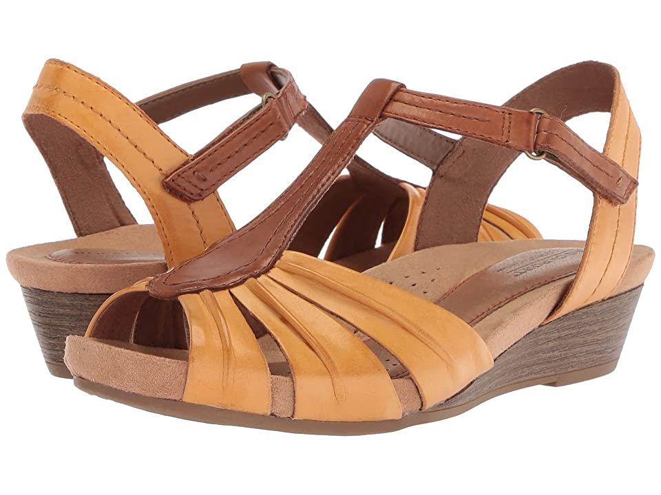 Rockport Cobb Hill Collection Cobb Hill Hollywood Pleat T (Amber Yellow Leather) Women