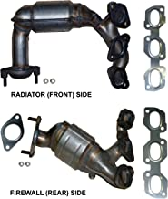 Rear Bank 1 Not For California Emission Vehicles Front RHS Catalytic Converter for Ford Escape 3.0 V6 Set; Side: Radiator LHS and Side: Firewall Bank 2 2007-2008