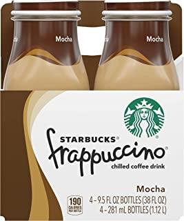Starbucks Frappuccino, Mocha, Coffee Drink, 9.5 oz (Pack of 4)