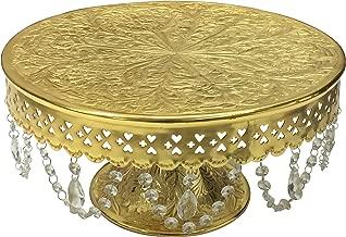 GiftBay Wedding Cake Stand Round Pedestal Gold Finish 14