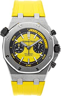 Audemars Piguet Royal Oak Offshore Mechanical (Automatic) Yellow Dial Mens Watch 26703ST.OO.A051CA.01 (Certified Pre-Owned)