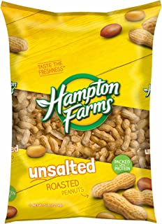 Hampton Farms Unsalted Roasted In-Shell Peanuts, 5 lbs. (pack of 6)