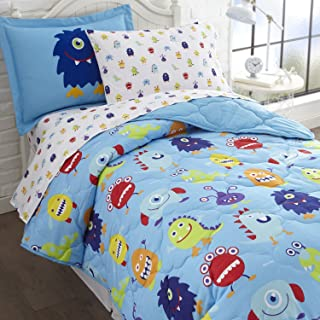Wildkin 7 Piece Full Bed-In-A-Bag, 100% Microfiber Bedding Set, Includes Comforter, Flat Sheet, Fitted Sheet, Two Pillowca...