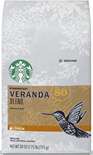 Starbucks Veranda Blend Light Blonde Roast Ground Coffee, 28-ounce bag