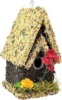 EDIBLE BIRDHOUSES |Reseedable Wooden Birdhouse Covered w/Birdseed | Squirrel Proof Bird Feeder |Made in The USA (TL)