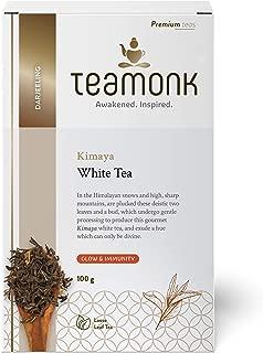 Teamonk Kimaya Darjeeling White Tea Loose Leaf (50 Cups) | Natural White Tea | Pure Loose Leaf Tea from Himalayas | No Additives - 3.5oz