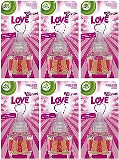 Airwick Lot de 6 recharges d'huile pour désodorisant Air WICK – Love