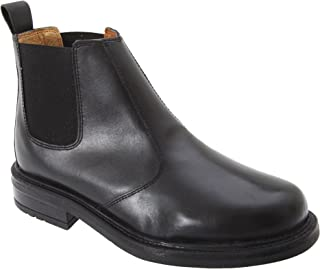 Mens Leather Quarter Lining Gusset Chelsea Boots