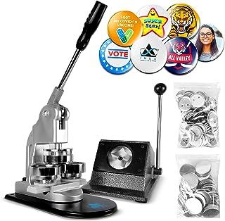 Button Maker Badge Making Machine - 58mm 2 ¼ inch 2.28 inch | Heavy Duty Circle Cutter Punch Press Machine | 1000 Circle B...
