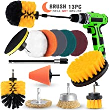 AAPOZZ Drill Brush Attachment Set – Power Scrubber with Additional Steel Wire and..