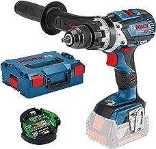 Bosch Professional GSB 18V-85 C Taladro percutor, 110 Nm, diámetro máximo tornillo 12mm, módulo Connectivity, sin batería, en L-BOXX, 18 V, Negro, Azul, Plata