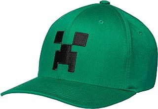 JINX Minecraft Creeper Face Flexfit Baseball Hat (Adult Fit) 664cbd9a84ad