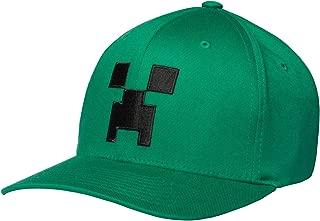Minecraft Creeper Face Flexfit Baseball Hat, Adult Fit