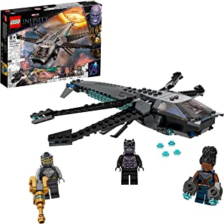 LEGO 76186 Marvel Black Panther Dragon Flyer, Avengers Building Toy with 3 Minifigures, Super Heroes Set