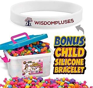 Snap Pop Beads, Jewelry Making Kit For Kids 3 4 5 6 7 8 9 10 Year Old Girls- Art and Craft DIY Creativity Set-Necklace, Bracelet, Hairband, Ring, Ideal Birthdays & Holidays Gift Box, (500+Pcs + Bonus)